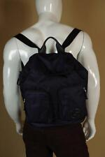 Giorgio Armani Blue Leather and Nylon Backpack New with Tags Bag Messenger Tote