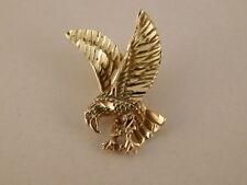 14K GOLD FLYING EAGLE PENDANT IN FLIGHT WIDE SPREAD WINGS TALONS OPEN PREDATOR