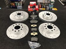 AUDI A6 S LINE 2.0 TDI 2013 FRONT REAR DRILLED GROOVED BRAKE DISCS & MINTEX PADS