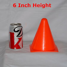 SET OF 12 CONES FOR SPORT (6 INCH) MARKING AGILITY FIELD MINI TRAINING CONE