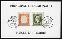 "MONACO YVERT BLOC 58a "" STAMP MUSEUM IMPERF M/SHEET "" MNH XF"