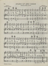 """Vintage MONTANA STATE UNIVERSITY song sheet - """"STAND UP AND CHEER"""" - 1938"""