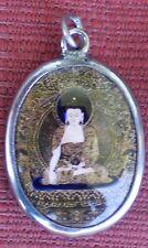 Tibetan Pendant SHAKYAMUNI BUDDHA Enamel & Metal