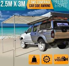 New 2.5M x 3M AWNING ROOF TOP TENT CAMPER TRAILER 4WD 4X4 CAMPING CAR RACK