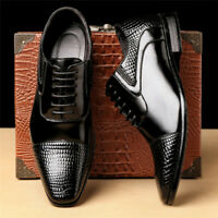 Square Toe Lace Up Mens Business Dress Formal Oxfords Casual Work Leather Shoes