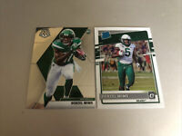 2020 Panini Mosaic Denzel Mims Rookie RC Chronicles Donruss Rated LOT
