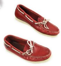 Eastland Red Leather 1 Eye Moccasin Boat Shoes Women's 6.5 M