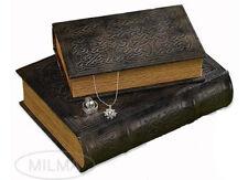 Vintage Classic Celtic Knot Motif Irish Secret Wood Book Box Set of 2