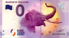31 TOULOUSE Muséum, 2017, Billet 0 € Souvenir