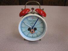 Bradley Vintage Mickey Mouse Alarm Clock Wind Up - German Made-