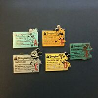 DLR - Global Lanyard Series - Tickets Coupons - Set of 5 Pins - Disney Pin 39186