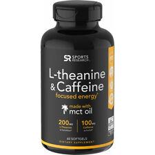 Sports Research l-Theanine & cafeína Suplemento Nutricional - 60 Cápsulas