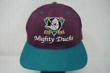 Rare VTG AMERICAN NEEDLE Anaheim Mighty Ducks CCM Snapback Hat Cap 90s Disney