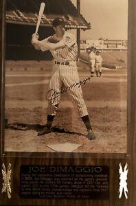 Joe DiMaggio autographed Plaque With COA