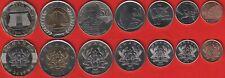 Ghana set of 7 coins: 1 pesewa - 2 cedis 2007-2019 UNC