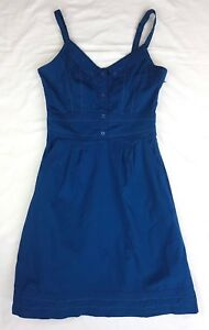 EUC Kinki Gerlinki Size 8 Dress Rockabilly Sleeveless Blue Pockets Casual Event