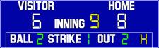 ScoreBoards.com BA-7200-LED Baseball Scoreboard (5′ 6″ x 14′) Hybrid