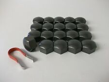 Ford Fiesta Focus & C-Max Mondeo Wheel Nut Covers (19mm Grey) (PE1323)