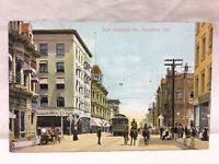 Vintage Postcard East Colorado Street Scene Pasadena California Unused Cali