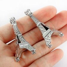 5X Silver Plated Eiffel Tower Shape Pearl Beads Cage pendant DIY Necklace Making