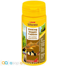 Sera Viformo Fish Food Tablets 50ml 130 Tabs 1.1oz Ideal for Catfish and Loaches