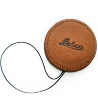 For Leica QP Q2 Q TYP166 Genuine leather Lens Cap Lens Protection Cover Brown