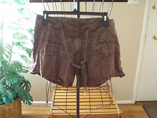Charolette Russe brown front/back pockets cute shorts size juniors 9-waist 32