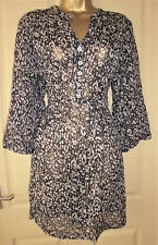Black with grey print chiffon blouse by ADINI size L 16
