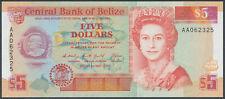 Belize - 5 Dollars 1990 aUNC - Pick 53a