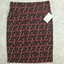 LuLaRoe Cassie Skirt Size L New with Tags! Lipstick Print