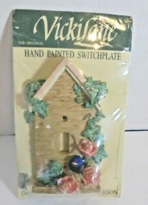 VickiLane Hand Painted Birdhouse Light Switchplate Designed By Vicki Anderson