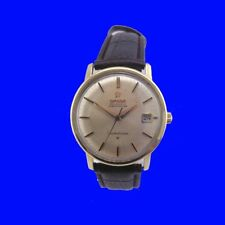 Stunning Vintage 14k Gold Retro Omega Constellation Date Gents Wrist Watch 1963