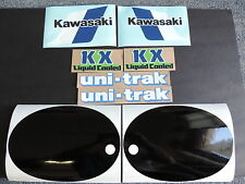 1983 KAWASAKI KX 125 GAS TANK, SWINGARM, REAR PLATE & SIDE PANEL DECAL KIT