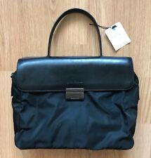 Prada Vintage Women Handle Bag Nylon Leather Briefcase Black Handbag