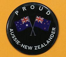 PROUD AUSSIE - NEW ZEALANDER FRIDGE MAGNET AUSTRALIAN SOUVENIR NEW ZEALAND BLACK