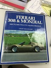 Ferrari 308 & Mondial Book By Geoff Willoughby