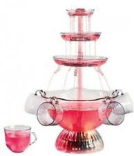 3-Tier Lighted Cascading Tower BPA Free Party Punch Beverage Fountain Clear New