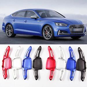 2pcs Aluminum Steering Wheel Shift Paddles Shifter Extension For Audi S5 2017-18