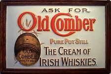 Old Comber Irish Whiskies Blechschild Schild 3D geprägt Tin Sign 20 x 30 cm