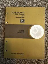 John Deere 6414D 6414T Engines Accessories Parts Catalog Pc1471 a1