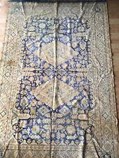 48x72 blue tan rug tapestry Lightweight Beautiful Pattern