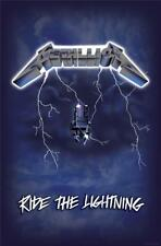 OFFICIAL LICENSED - METALLICA - RIDE THE LIGHTNING TEXTILE POSTER FLAG HETFIELD