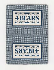 Poker size deck of playing cards from 4 Bears Casino & Lodge, North Dakota, blue