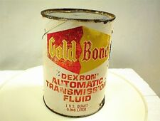 GOLD BOND DEXRON AUTOMATIC TRANSMISSION FLUID ONE QUART PAPER OIL CAN OMAHA NEB