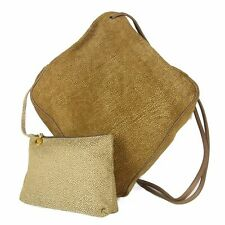 Auth Borbonese Redwall Leather Shoulder Crossbody Bag w/Pouch F/S 16355b