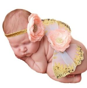 Baby Butterfly Wings & Headband Set - Yellow - Photo Props