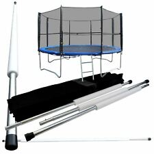 8FT 6 bâtons rechange trampoline Filet de sécurité Surround Ensemble avec &