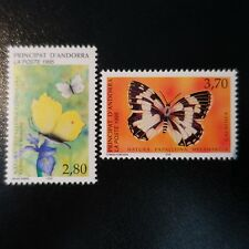 ANDORRA FRENCH N°462/463 BUTTERFLIES NEUF LUXE MNH