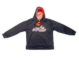 Los Caguameros de Mexicali Sweater With Hoodie_Gray/Orange_Digital Transfer Logo
