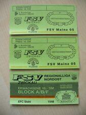 FSV Zwickau alte Eintrittskarten
